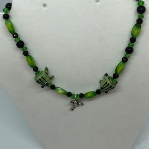 "Jewelry - Children's Frog 16/16-1/2"" Necklace"